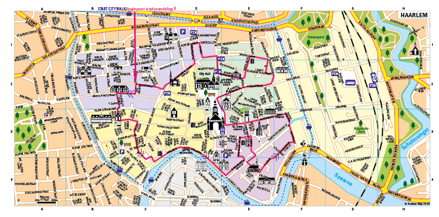 City walk in Haarlem - Freebee Map